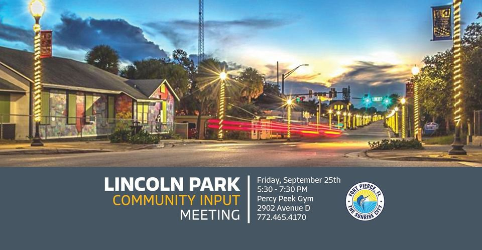 City of Fort Pierce to host community input meeting for Lincoln Park